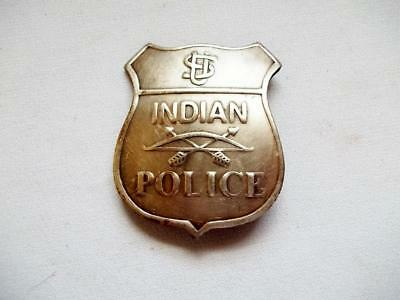 Us Indian Police Shield Badge Old Western Lawman Ranger Bow Arrows
