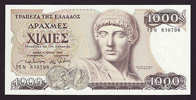 GREECE  -  1000 drachmai,1987  -  P 202a  -  UNC