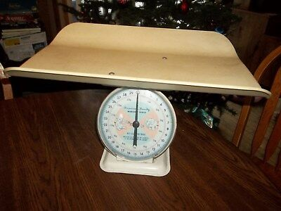 Awesome Vintage American Family Platform Scale Baby Infant Nursery Pounds/ounces