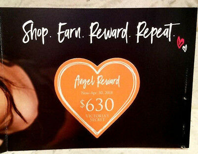 Victoria's Secret $630 Angel Reward Card PINK Coupon $1,260 val. Exp. April 2018