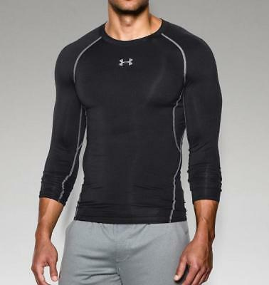 Under Armour Men's HeatGear Armour Long Sleeve Compression Shirt 1257471 Black