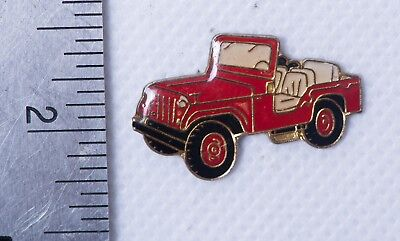 Red Jeep Vintage Collectible Cloisonne Enamel Vehicle Pin