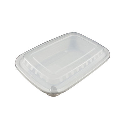 50 Food Containers with lid (16 oz) BPA Free, Microwave/Dishwasher Safe, White