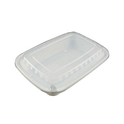 50 Food Containers with lid (32 oz) BPA Free, Microwave/Dishwasher Safe, White