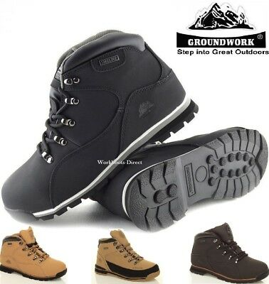 Mens Uk Ppe Safety Lightweight Leather Steel Toe Cap Safety Work Boots Trainers