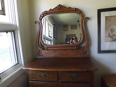 Antique Oak Circa 1890 2 Piece Bedroom Set - Moving Must Sell