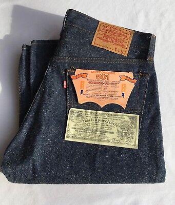 VTG NWT Levi's 501 Denim Jeans 33 x 34 Shrink to Fit Button Fly USA 1984