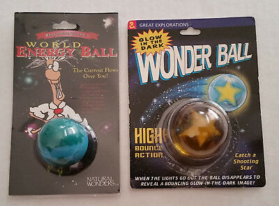 WONDER BALL / ENERGY BALL Science Toys Lot Of 2 NEW High Bounce/Electric Circut