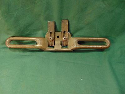 Vintage Brass Coachmakers Double Iron Router Plane Collectible Antique Tool
