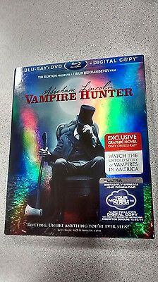 Abraham Lincon Vampire Hunter -NO MOVIE - Blu-ray Slip Cover, Near Mint!