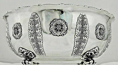A Tiffany Aesthetic Movement, Princess Feathers, Sterling Silver Center Bowl