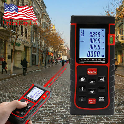 60m LCD Digital Handheld Laser Distance Meter Range Finder Measure Diastimeter