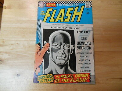 "FLASH #167  ""THE REAL ORIGIN OF THE FLASH!"" 1967  Dc Comics"