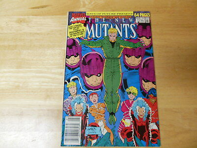 New Mutants Annual #6 1st App Shatterstar  64 page 1990 Marvel  White Pages