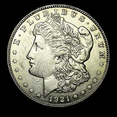 1921 S ~**ABOUT UNCIRCULATED AU**~ Silver Morgan Dollar Rare US Old Coin! #957