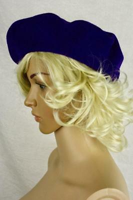 Vintage 80s Purple Kangol Beret 100% Wool Made in Cleator Cumberland England