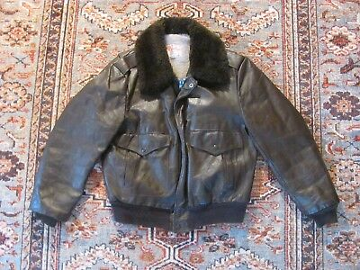 Excelled Vintage Leather Jacket Size 44 Made In USA
