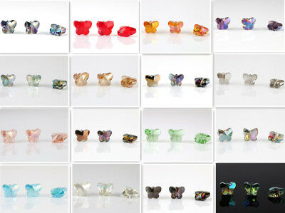 wholesale 8pcs Swarovskii 5x6x10mm Butterfly Sparkling Crystal Loose Beads