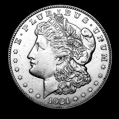 1921 S ~**ABOUT UNCIRCULATED AU**~ Silver Morgan Dollar Rare US Old Coin! #R76