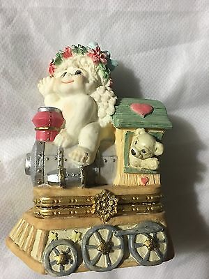 Dreamsicles Christmas Train Hinged Trinket Box 1997