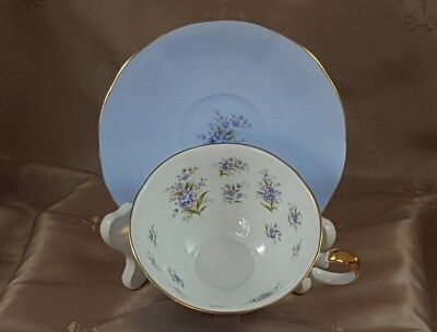 "QUEEN'S ENGLISH FINE BONE CHINA Teacup & Saucer ""MELODY"" Staffordshire ENGLAND"