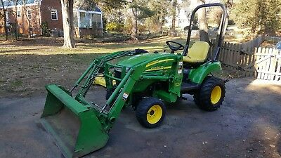 2006 John Deere 2305 4x4 with Loader and Mid-mount Mower