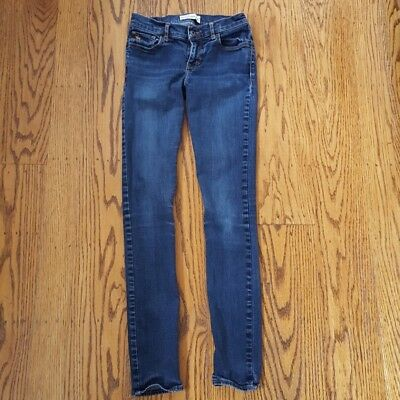 Abercrombie Kids Girls Size 16 Slim Skinny Jeans Blue Denim