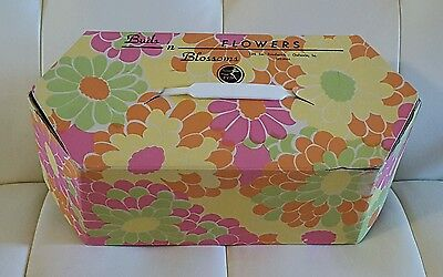 Vintage Cardboard Flower Box FTD Flower Power Retro Decor