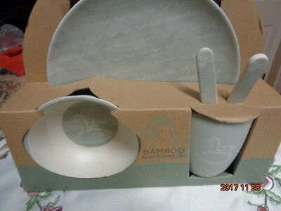 Peacock Alley Bamboo Baby Dinner Set