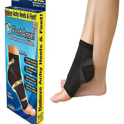 2 x Compression Wear Foot Pro Relieves Plantar Fasciitis Heel Pain Sleeve Socks
