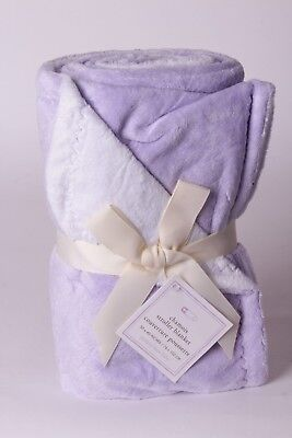 NWT Pottery Barn Kids Chamois solid lavender purple stroller baby blanket crib