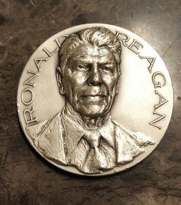 1981 Official Ronald Reagan Inaugural.999 Fine Silver High Relief Medal