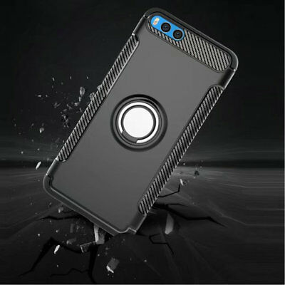 For Xiaomi Mi Note 3 Case Slim Shockproof Adsorption Ring Holder Kickstand Cover