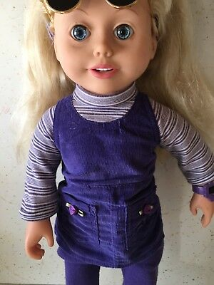 Amazing Ally Interactive Talking Doll w/Clothes Accessories & Carry Case *Works*