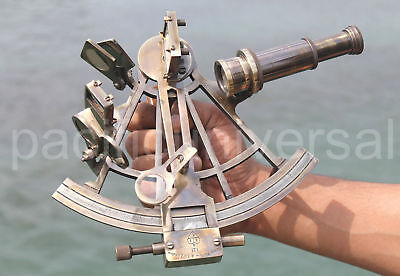 Solid Brass Vintage Sextant Ships Working Instrument Marine Replica Item 8""