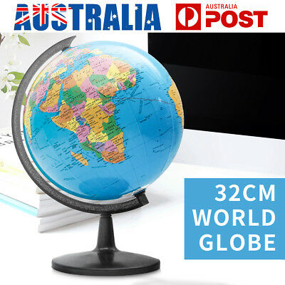 32cm Swivel Stand World Globe Map Blue Ocean Geography Educational Kids Toy Gift