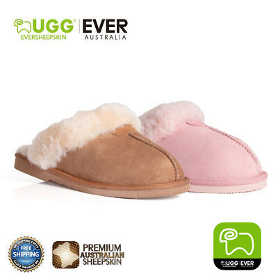 UGG Slippers, EVERUGG Ladies Scuff Premium Australian Fine Wool Sheepskin