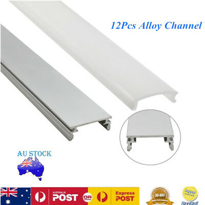 12x 1M Aluminium Channel Profile Alloy Heatsink Led Strip Light Cabinet Kitchen