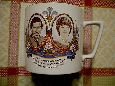 Vintage Commemorative cup of the Marriage of The Prince of Wales and Lady Diana