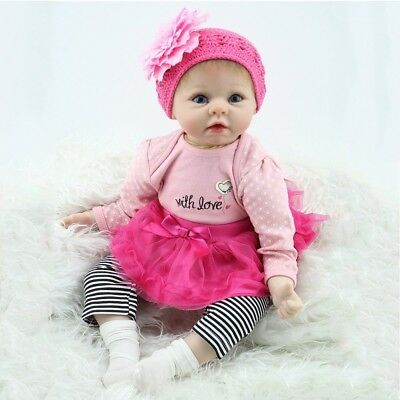 NPK Lifelike Newborn Baby Realistic Vinyl Reborn Baby Girl Doll Floppy Head +Box