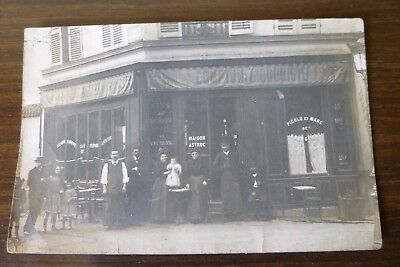 Rare Ancienne Photo Carte Postale Commerce Bistrot Auvergne 1920