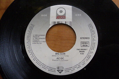 AC DC 1993 BIG GUN  45rpm VINYL 7in SINGLE RECORD JUKEBOX DJ