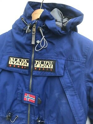 L@@k Napapijri Geographic Boys Hoodie Jacket Age 10 Medium Blue Zip-Up Coat
