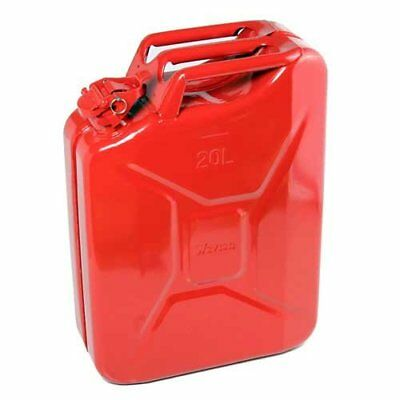 Alta calidad combustible kanisters rojas Metal 20Litre Gasolina Diesel Aceite