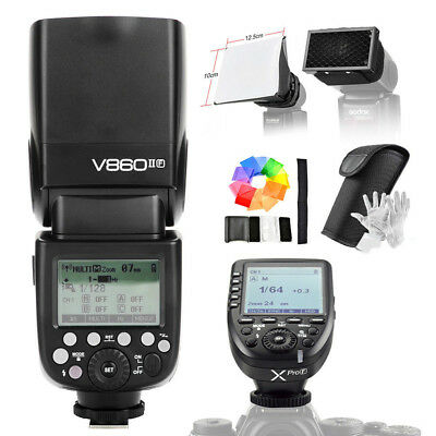 Godox Ving V860II-F 2.4G GN60 TTL HSS 1/8000s Camera Flash With Godox Xpro-F
