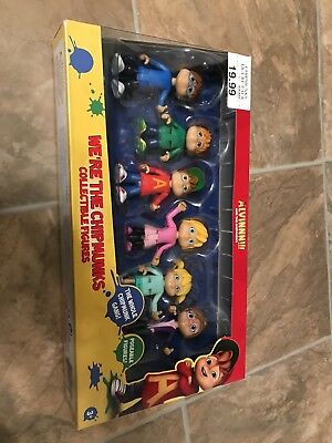 Alvin and The Chipmunks Collectible Figures Set of 6 Brand New In Box! US SELLER