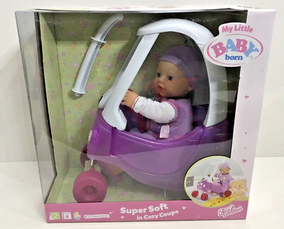 My Little Baby Born Super Soft Doll In Cozy Coupe Zapf Creations Age 2+ Years