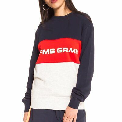 GSW282-SS18-NVY-W, Grimey Sweater – Counterblow Infamous blue/red/grey, Women,