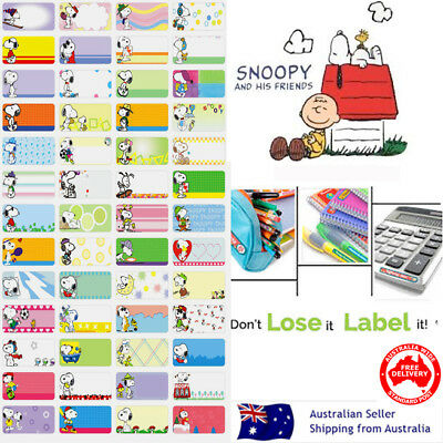 Snoopy dog kids Personalised Name Label preschool back2school pencil sticker