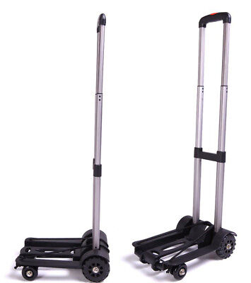 E3 Folding Aluminium HeavyDuty Luggage Trolley Hand Truck Foldable Shopping Cart